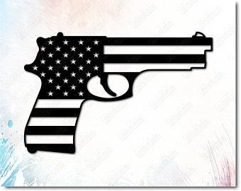 Gun clipart svg. Flag etsy