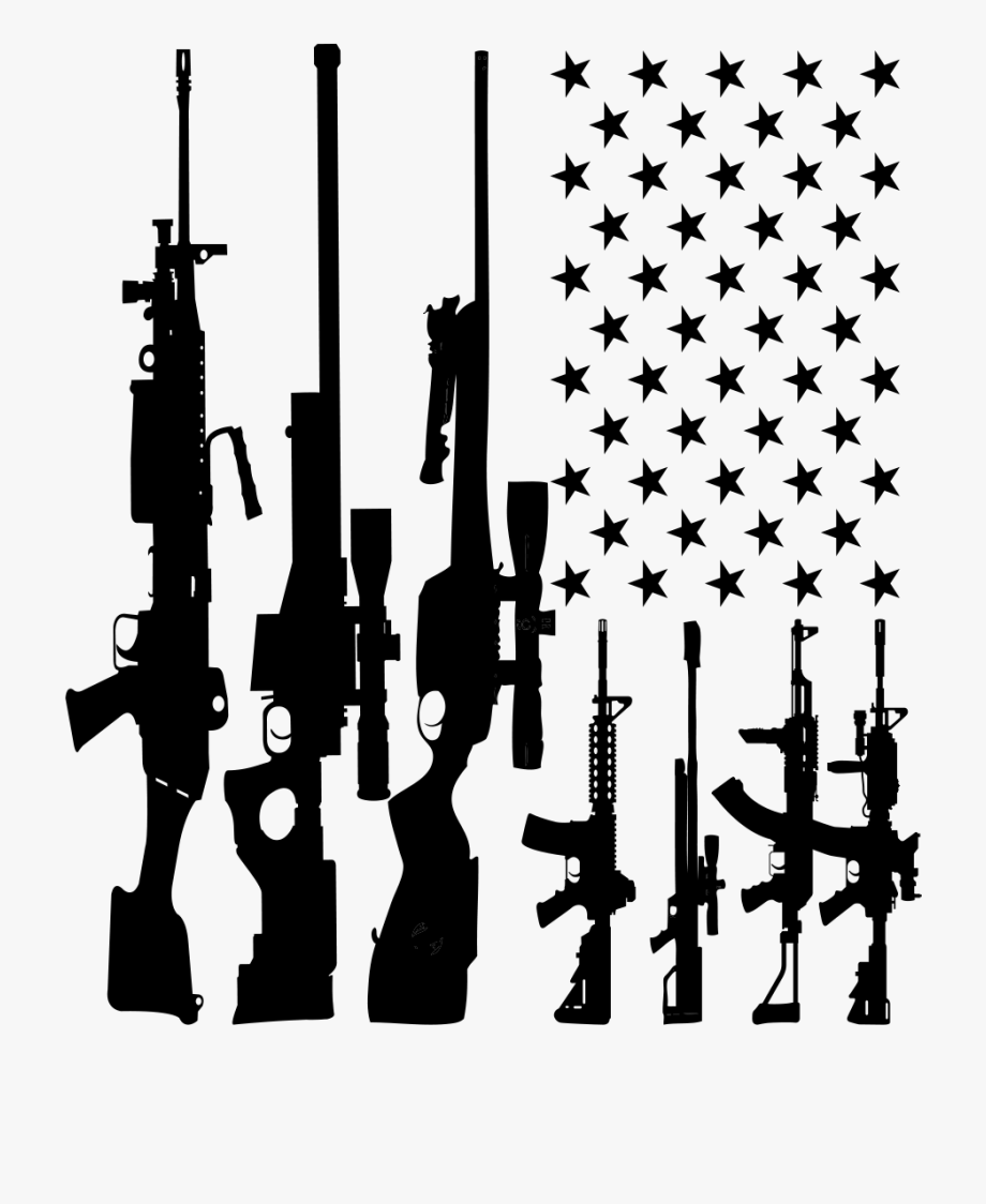 Guns clipart banner. The of america decal