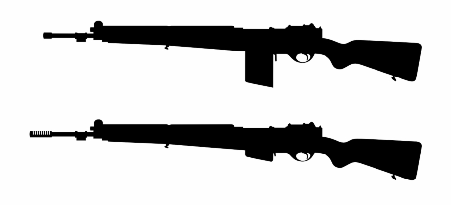 Guns silhouette fire arms. Clipart gun army gun