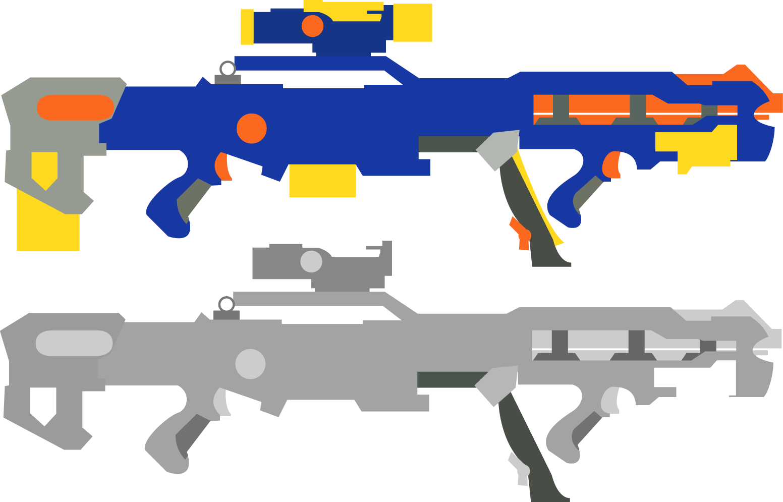 Nerf n strike elite. Gun clipart air rifle