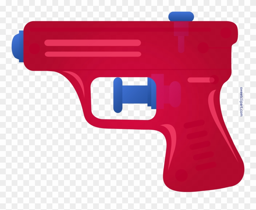 Image freeuse squirt red. Clipart gun art