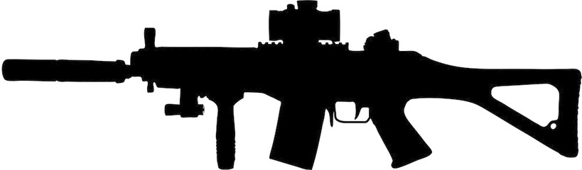 Free military cliparts download. Clipart gun assault rifle