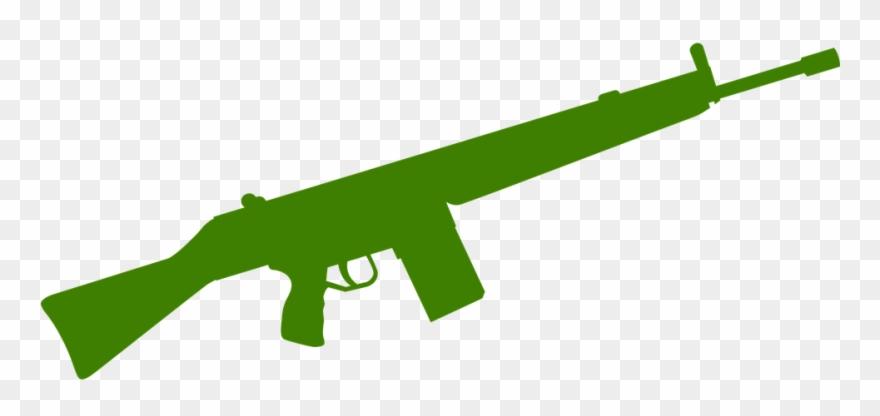 Military cliparts machine silhouette. Clipart gun assault rifle