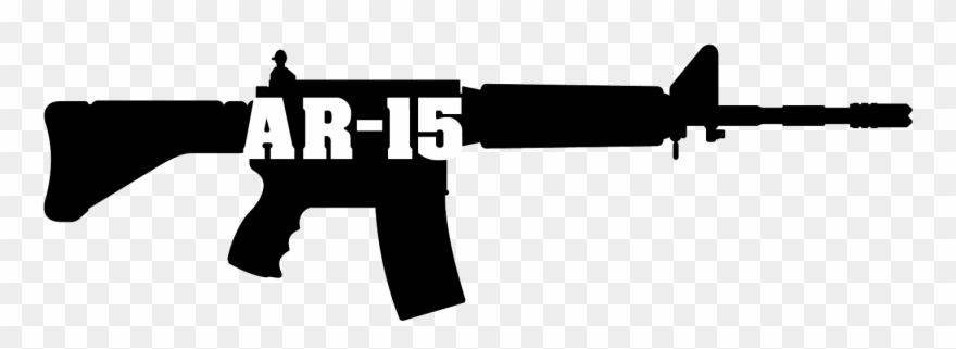 Clipart gun assault rifle. Ar png download