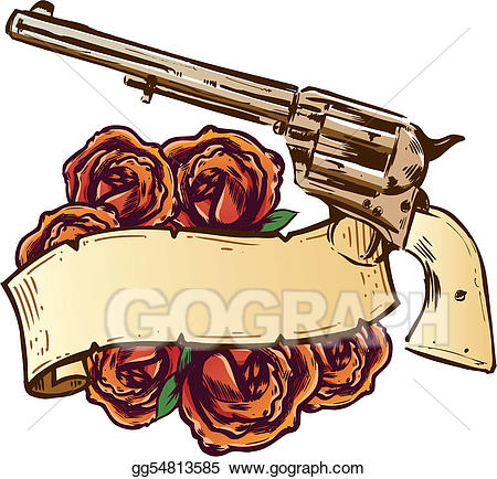 Clipart gun banner. Eps illustration guns and