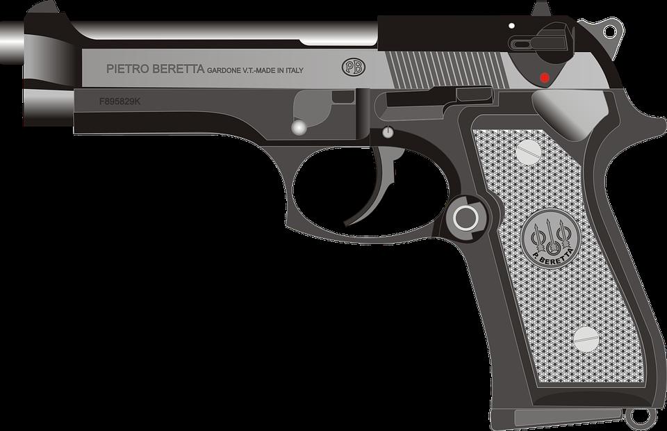 Imagen gratis en pixabay. Pistol clipart military police