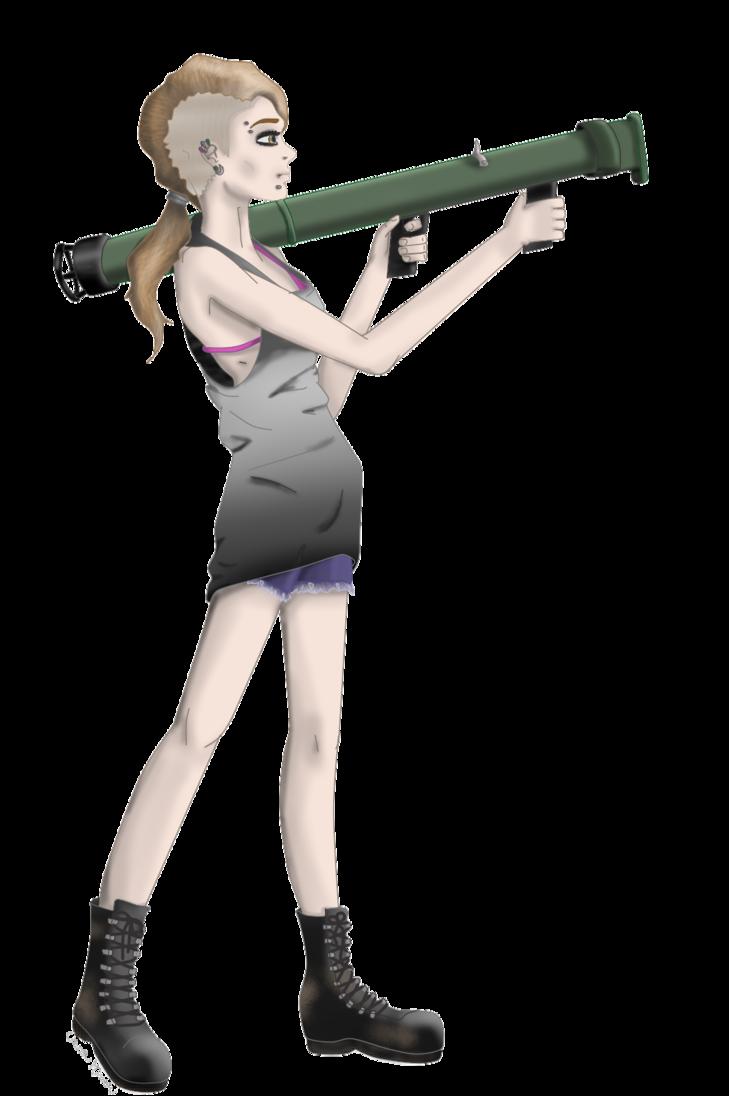 Girl by xursaxminorx on. Guns clipart bazooka