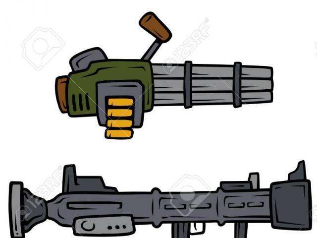 Guns clipart bazooka. Free machine gun download