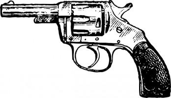 Free pistol download clip. Clipart gun black and white