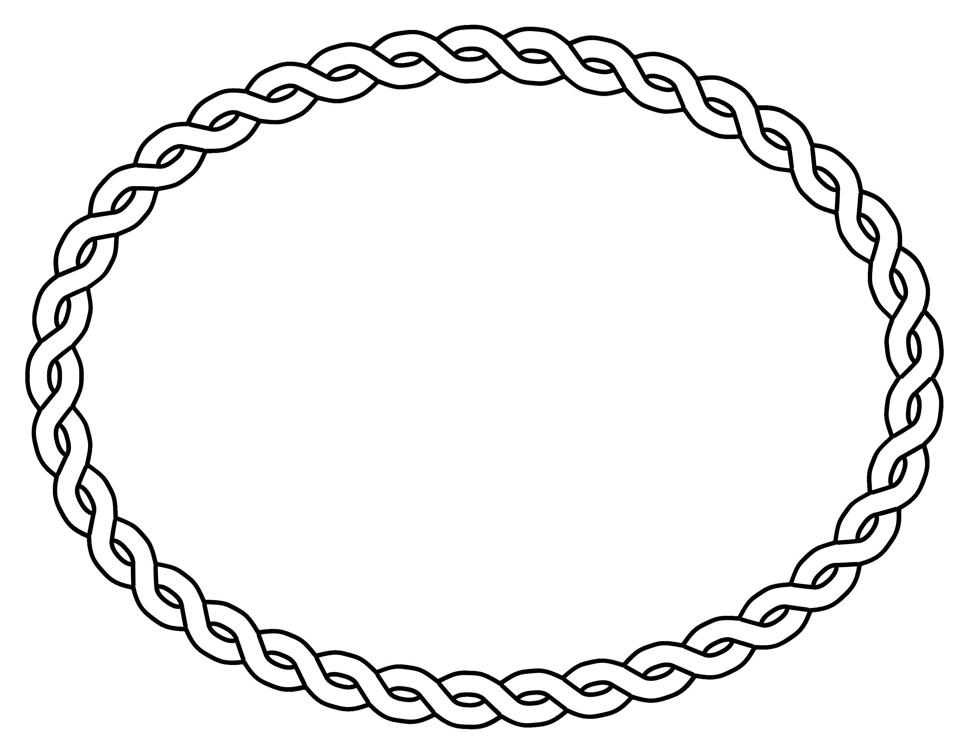 Straight rope oval frame. Clipart gun border