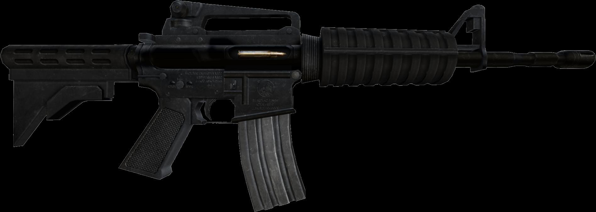 M assault rifle weapon. Clipart gun border