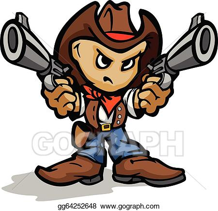 Clipart gun boy. Vector illustration cute kid