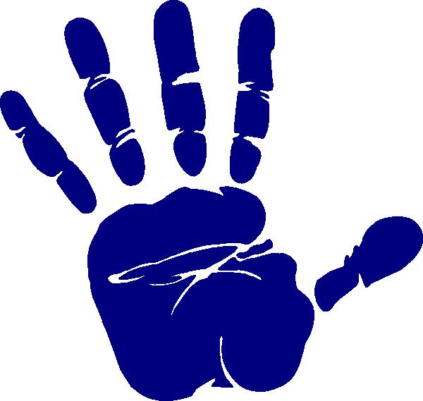 Clipart hands cute. Blue hand print clip