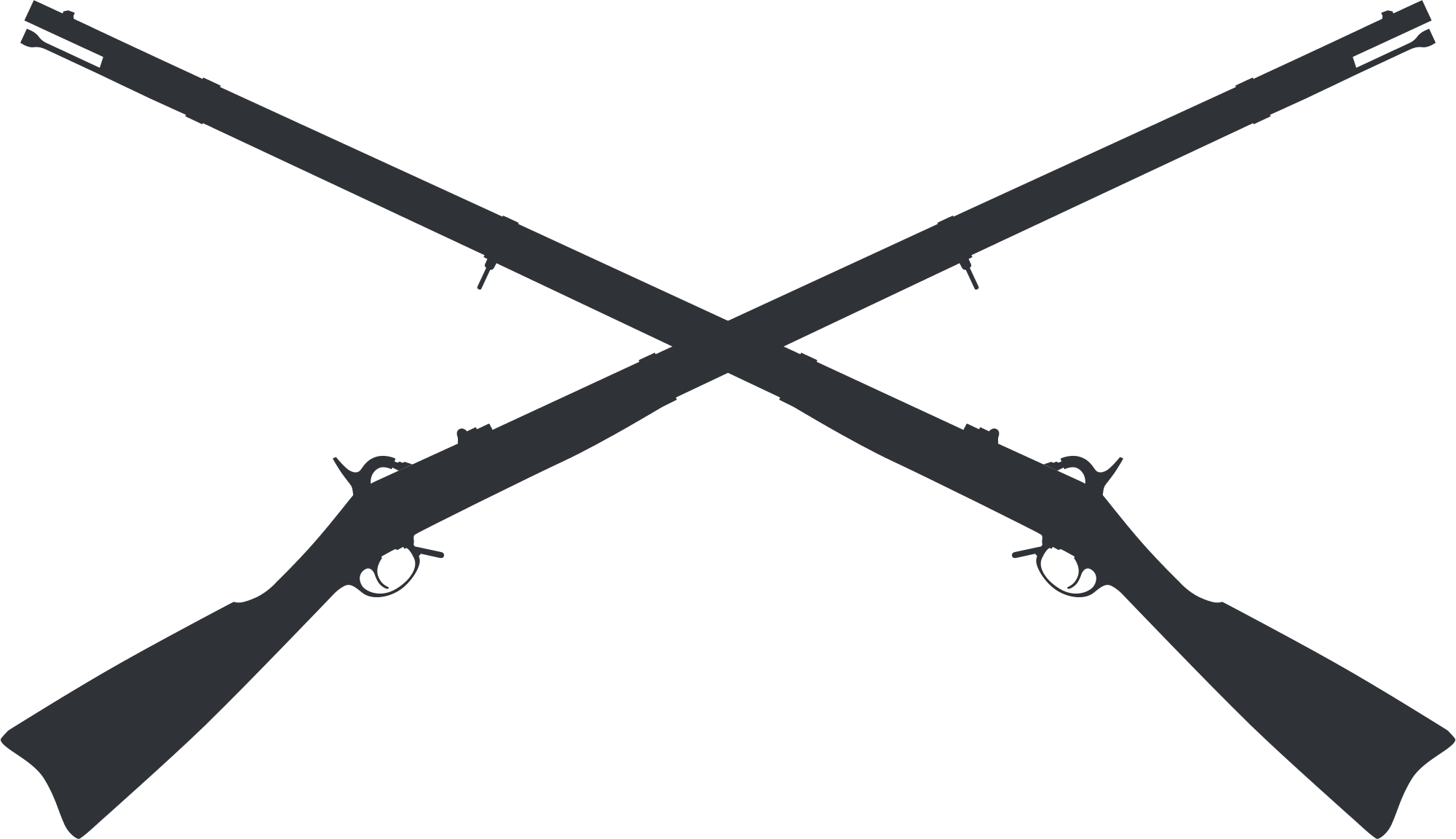 Gun clipart crossed. File springfield muskets svg