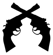 Clipart gun crossed. Free guns cliparts download
