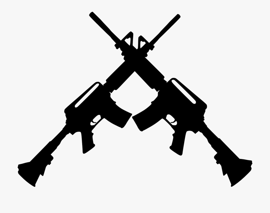Transparent crossed free . Guns clipart banner