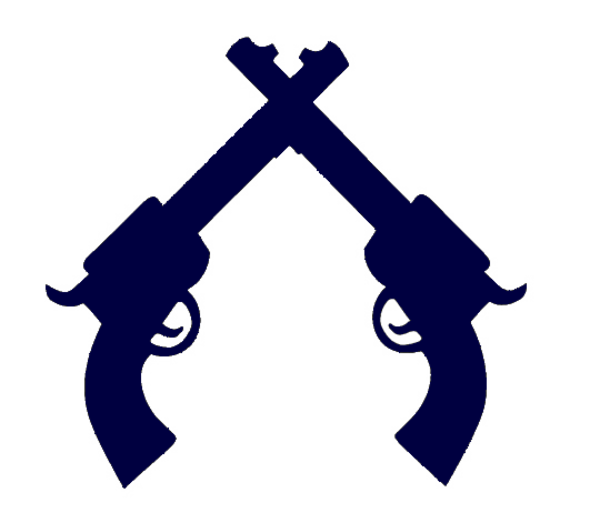 Clipart gun crossed. Cg blue free images