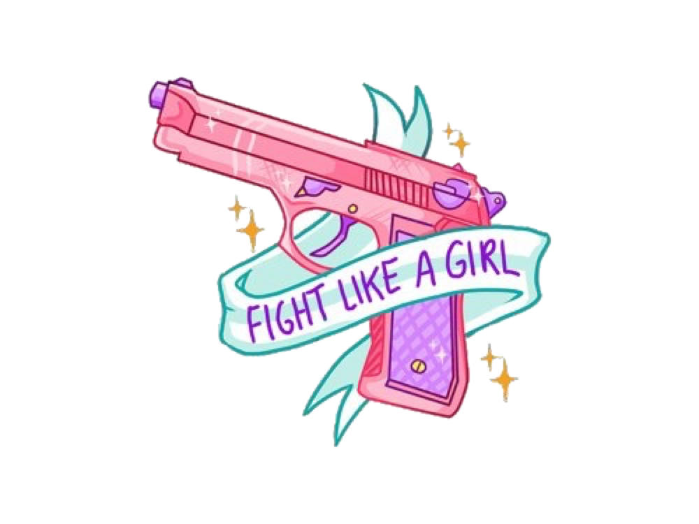 Clipart gun cute. Pink girl cool freetoedit