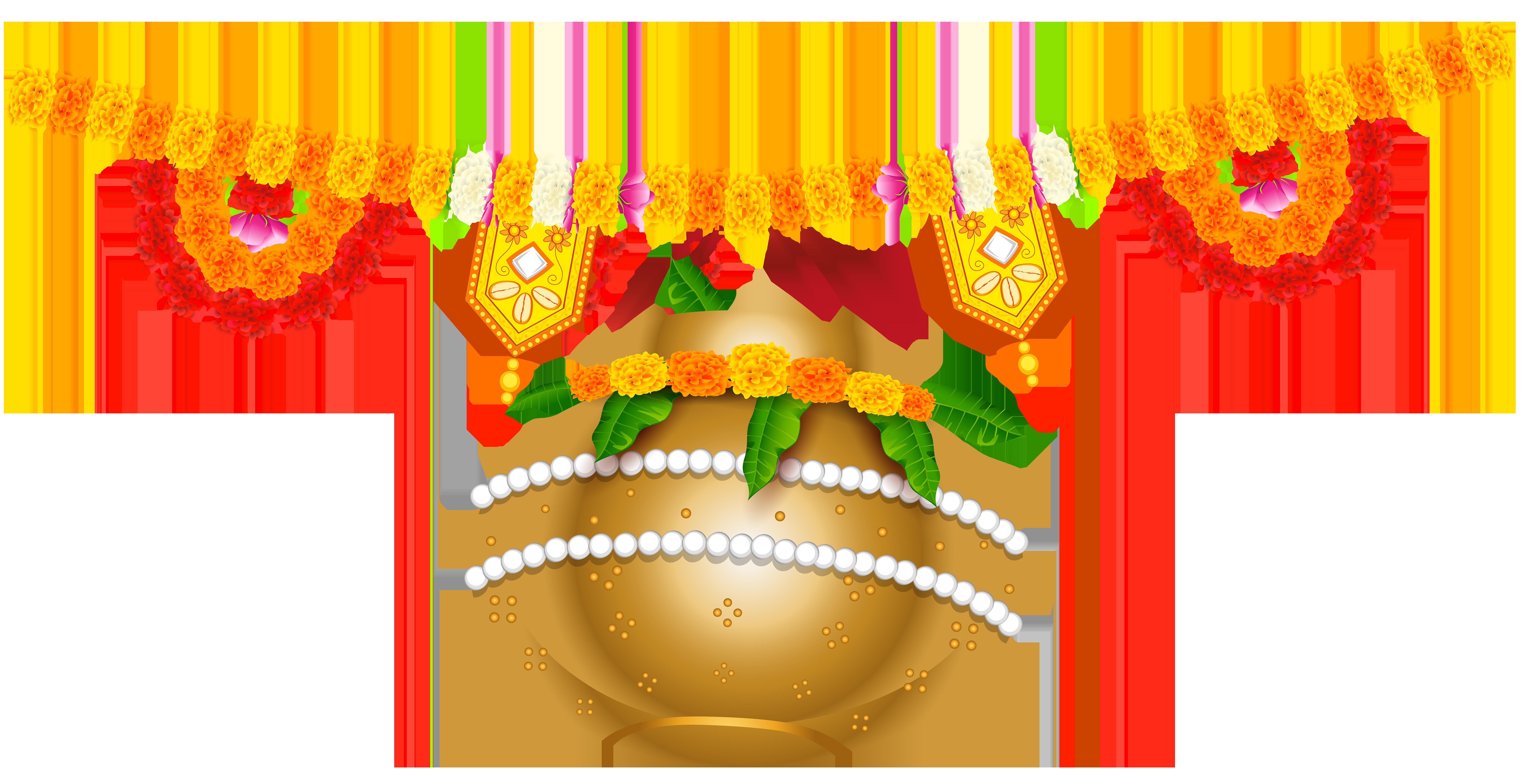 Clipart gun diwali. India holiday floral decoration