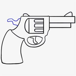Cowboy to draw free. Clipart gun easy