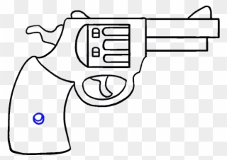 Clipart gun easy. Cartoon drawing
