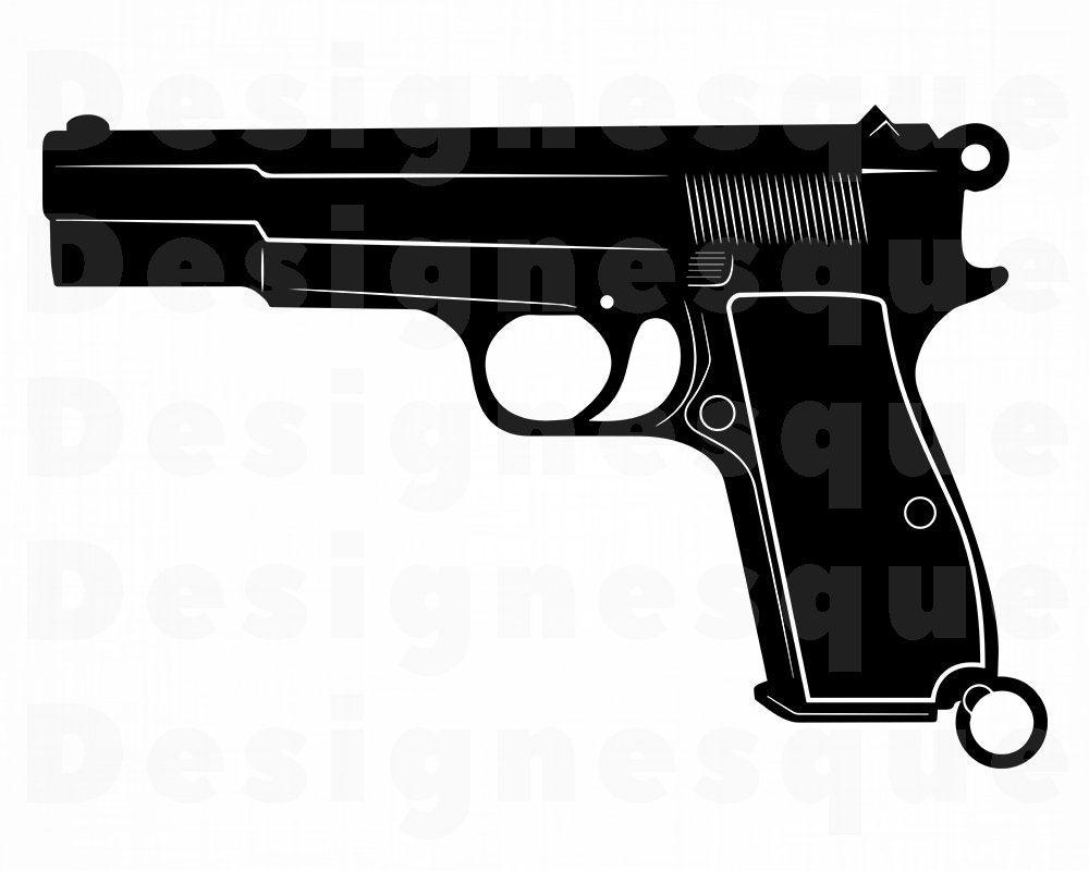 Clipart gun file. Svg handgun pistol weapon