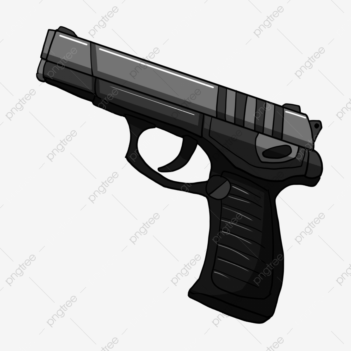 Clipart gun file. Black pistol front firearms