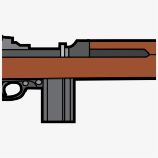 Weapon ww rifle silhouette. Clipart gun firearm