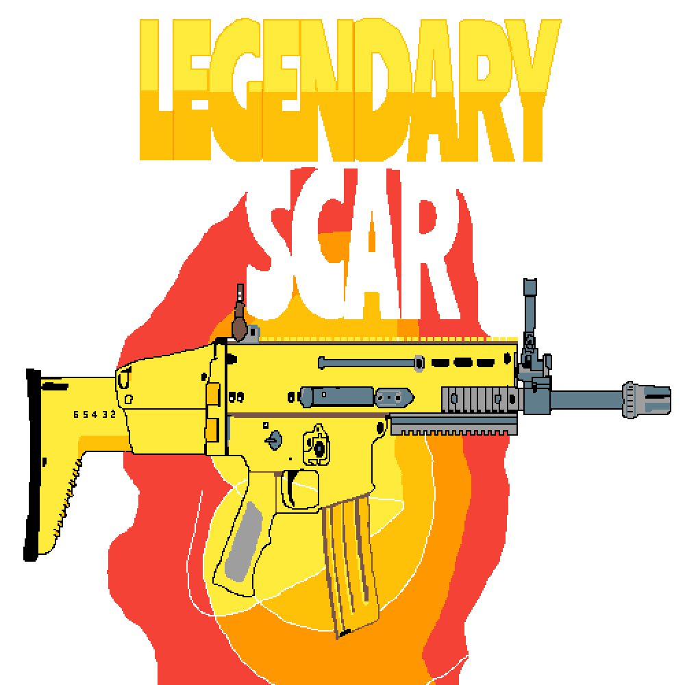 Pixilart scar by gamergod. Clipart gun fortnite