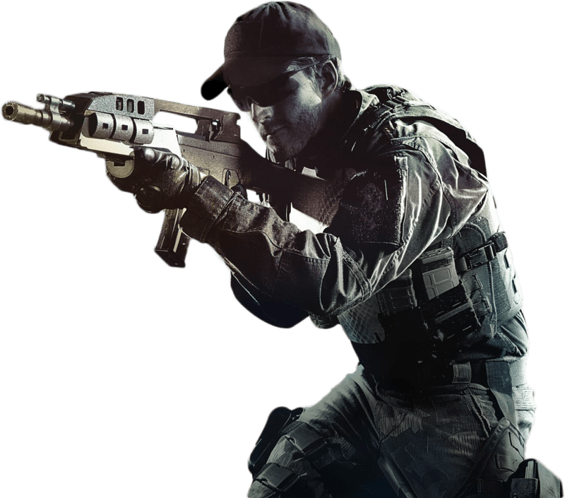 Call of duty soldier. Guns clipart fps