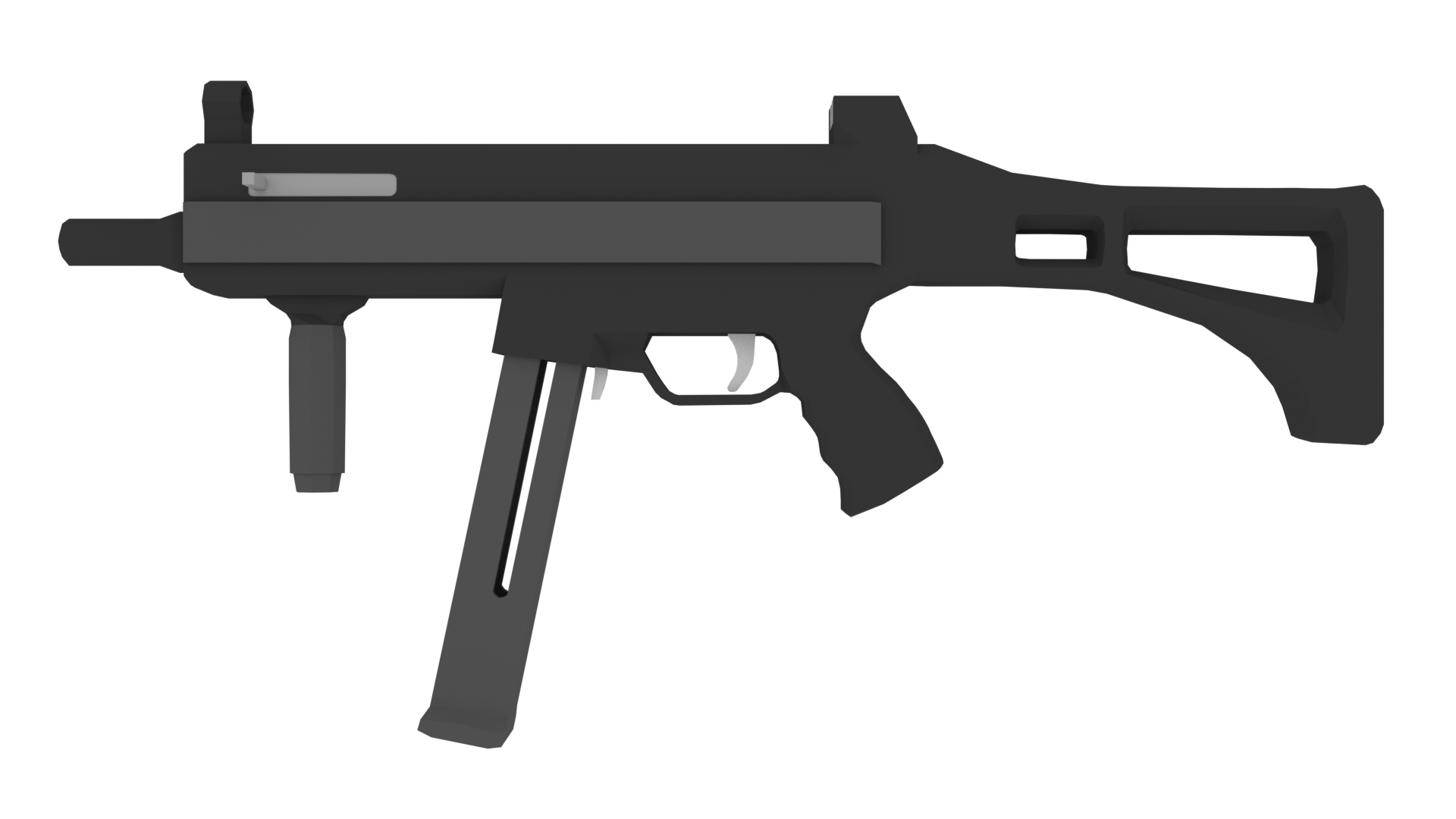 Low poly arms pack. Guns clipart fps