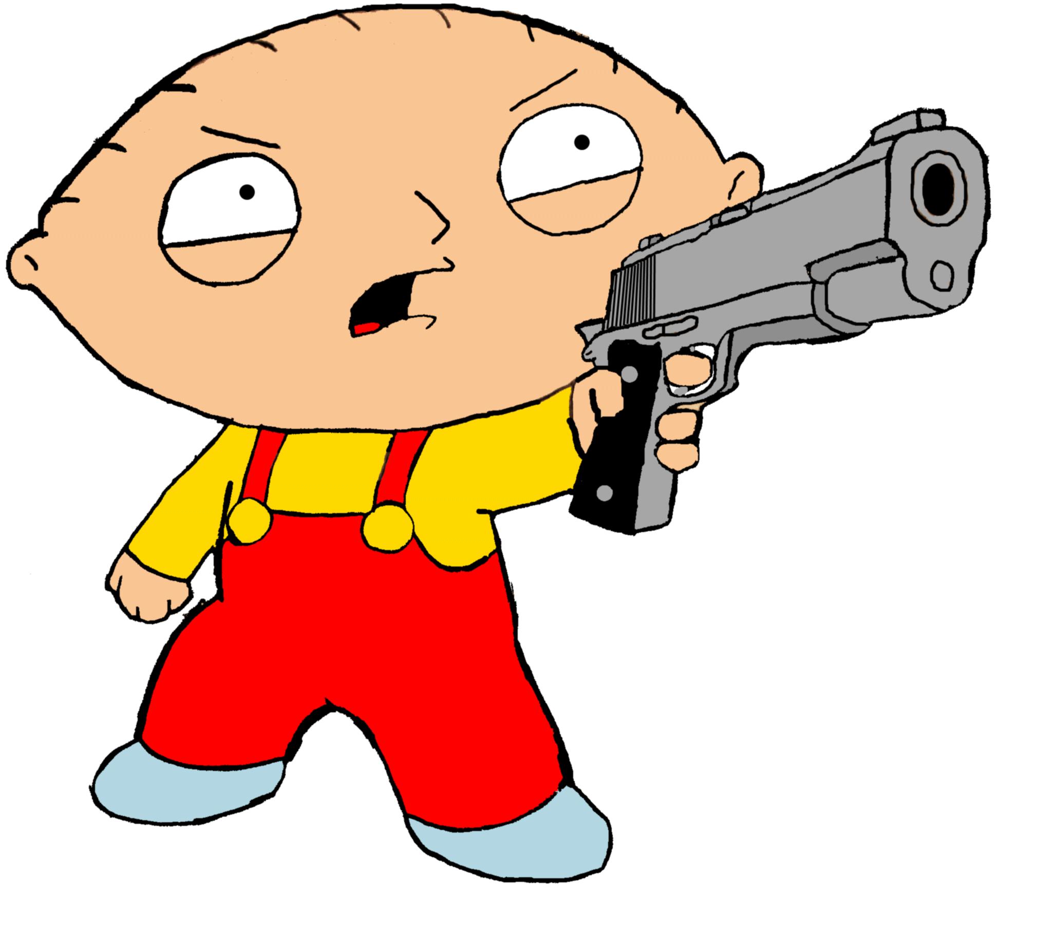 Guns clipart gangster.  collection of stewie