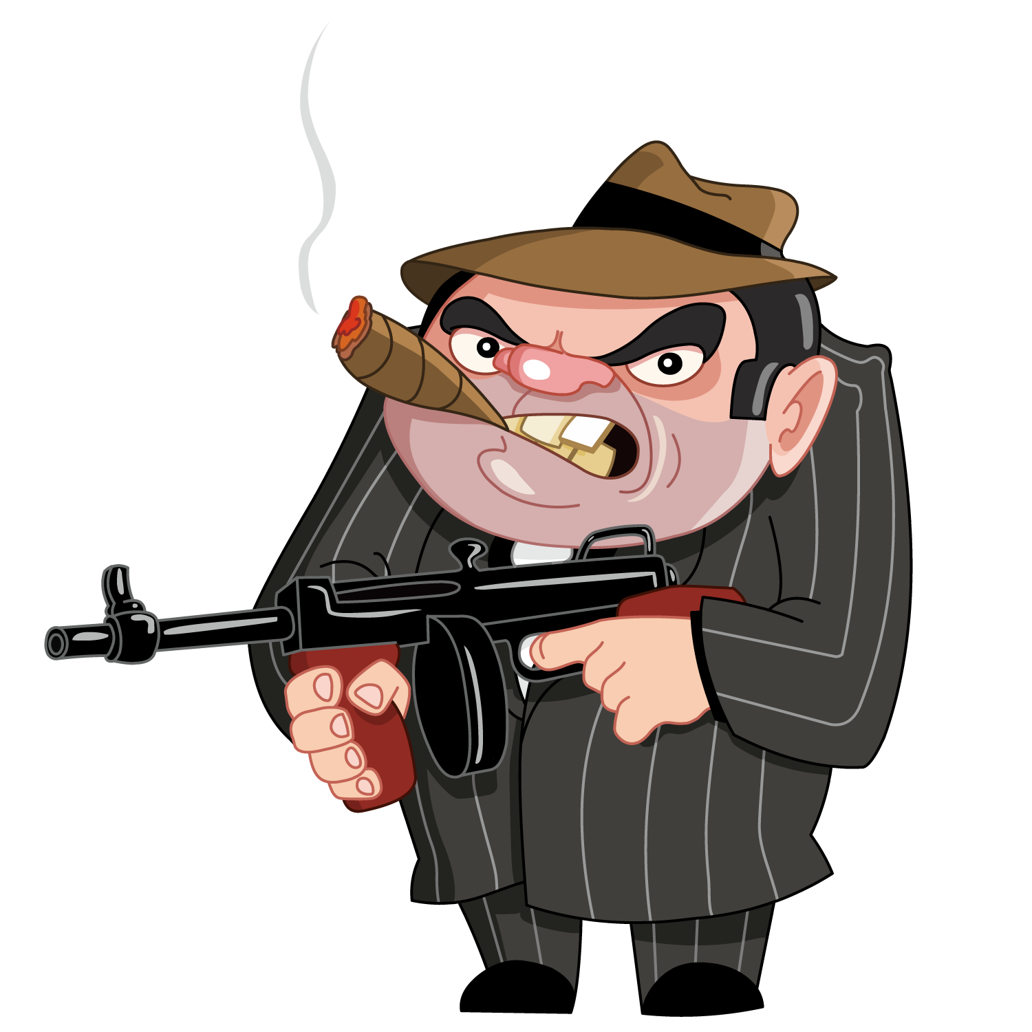 Clipart gun gangster. Cartoon stock photography illustration