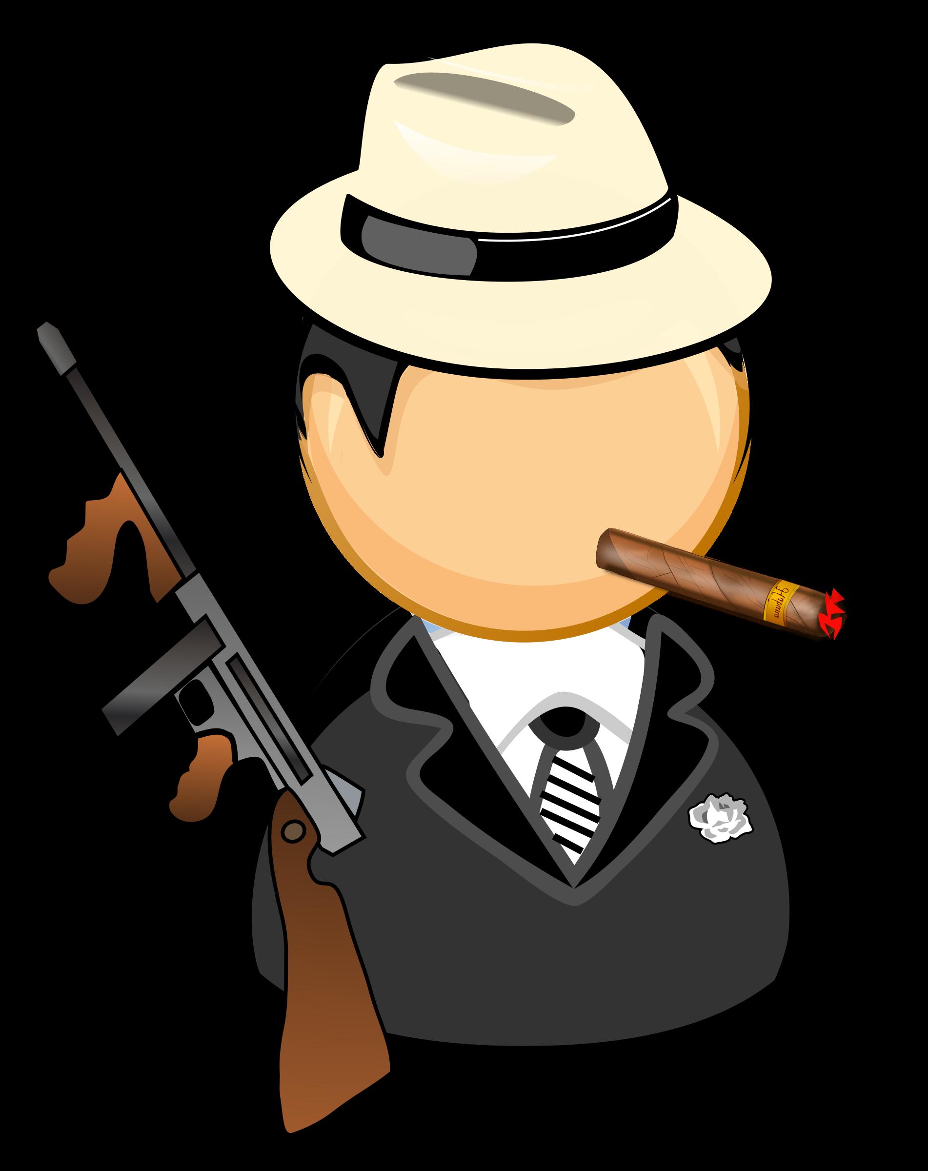 Criminal clipart typical. Gangster big image png