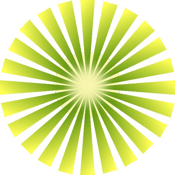 Dot clipart bursts. Green burst rays clip