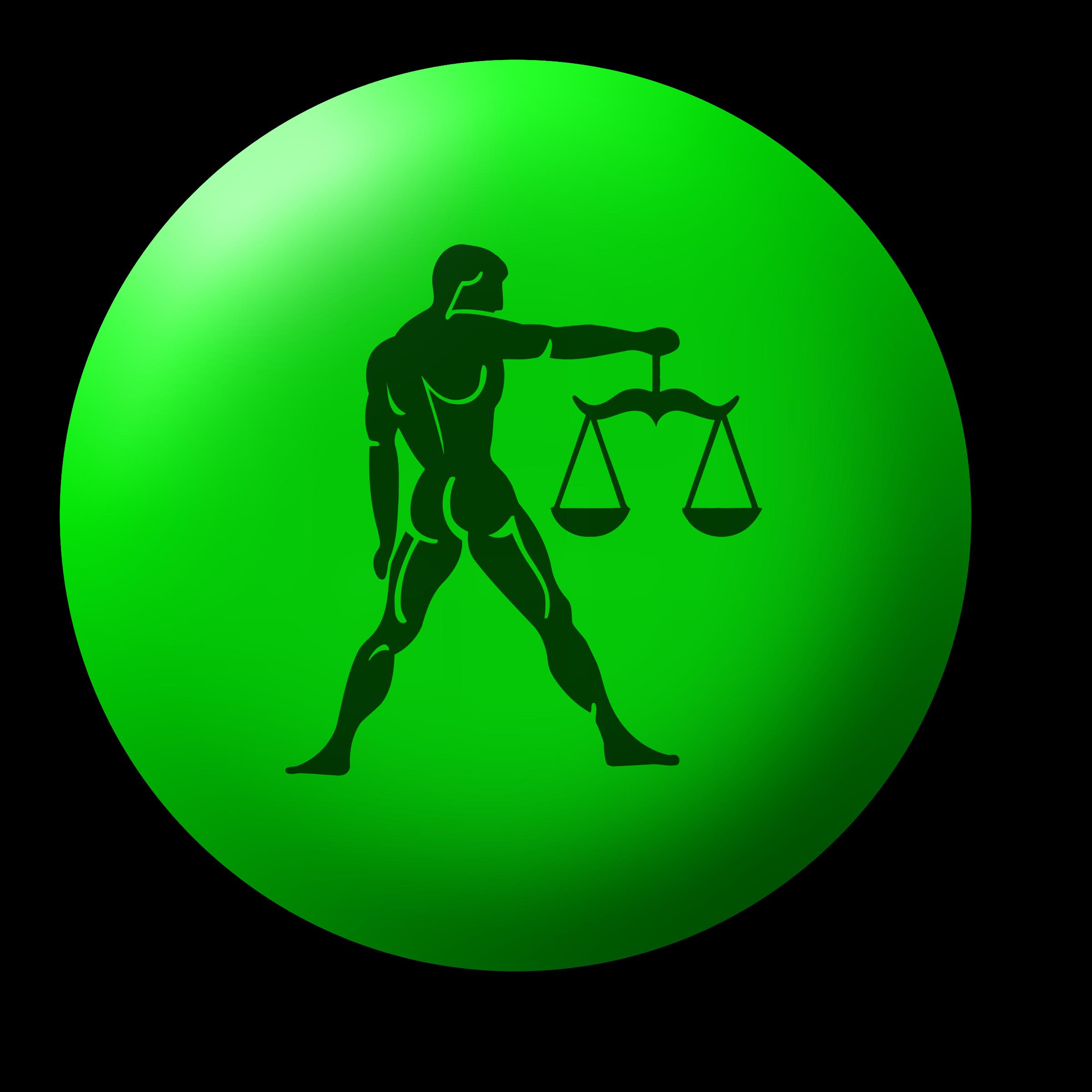 Libra drawing big image. Clipart gun green