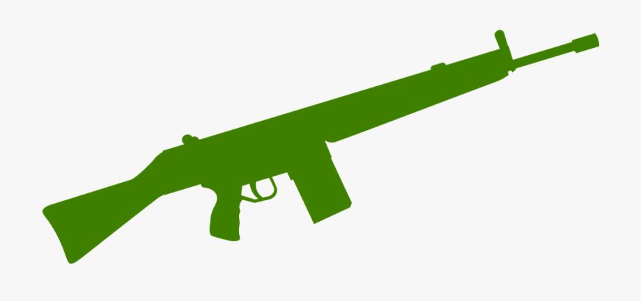 Rifle weapon military war. Clipart gun green