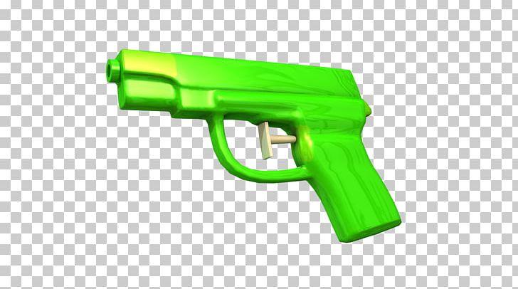 Water firearm weapon trigger. Clipart gun green