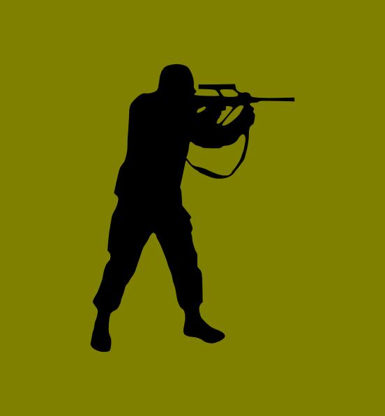Rifle hunter clip art. Clipart gun green