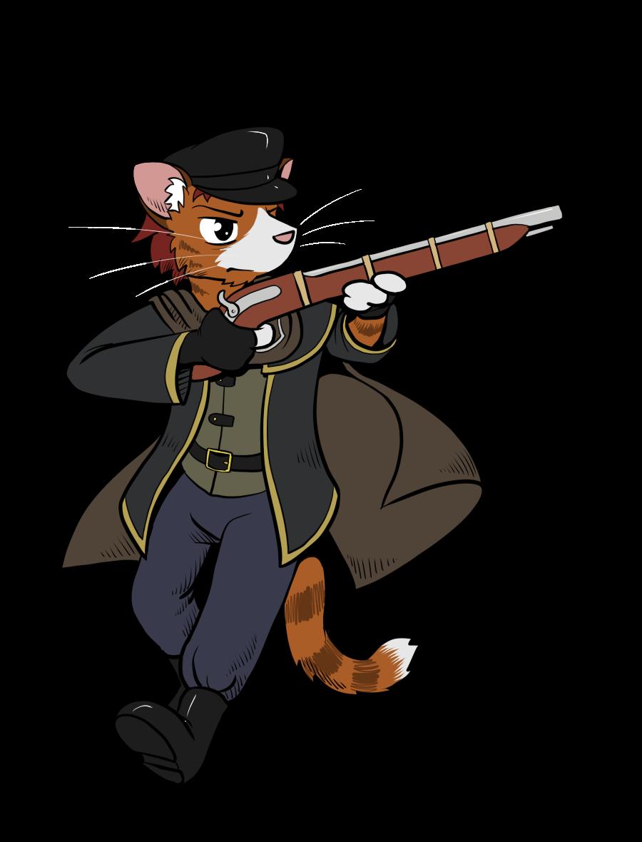 Clipart gun gunslinger. Look out that cat