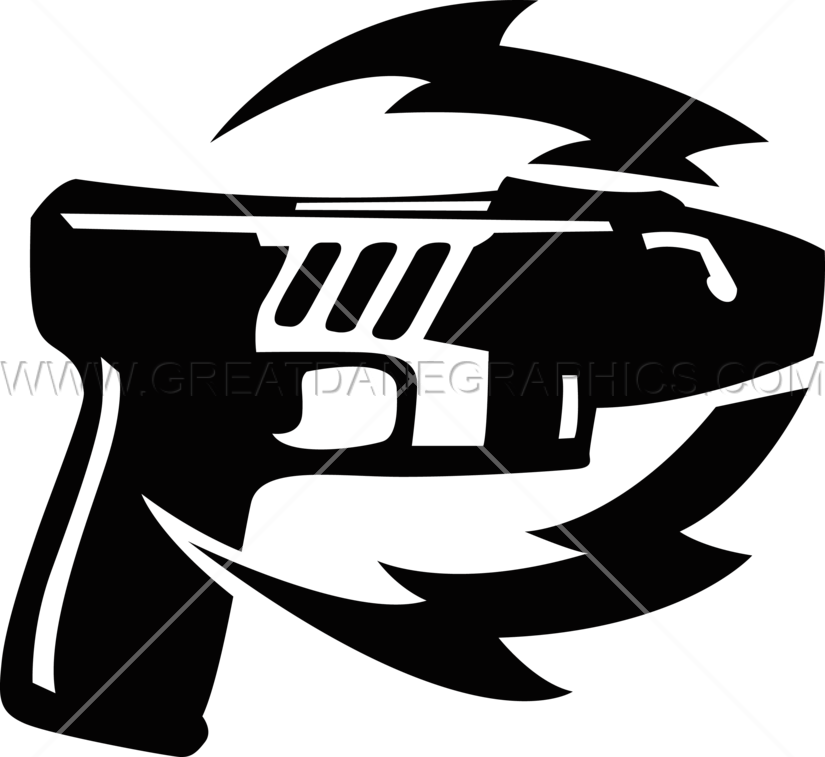 Taser production ready artwork. Clipart gun helmet