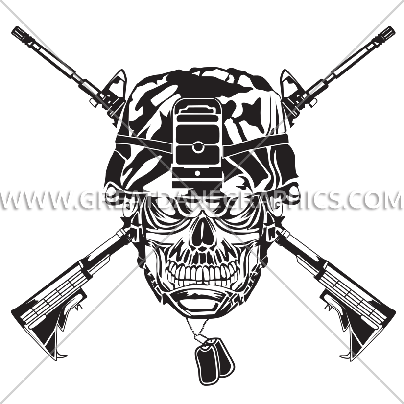 Clipart gun helmet. Military drawing at getdrawings