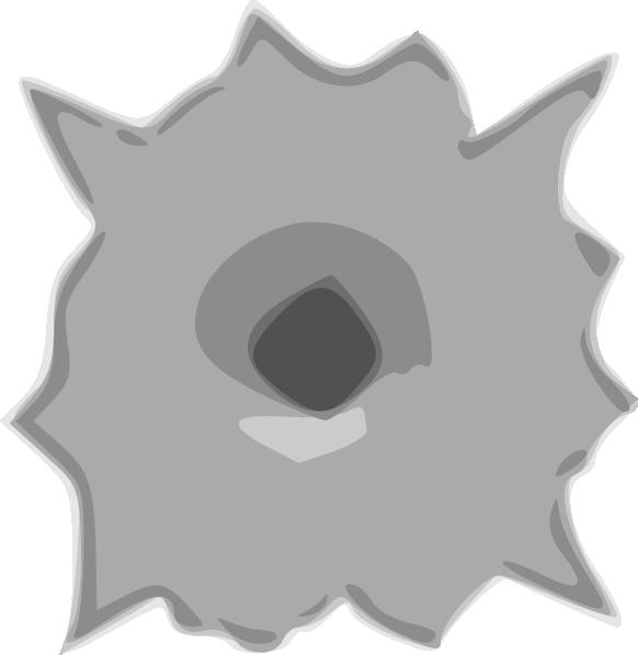 Bullet clip art at. Hole clipart shotgun