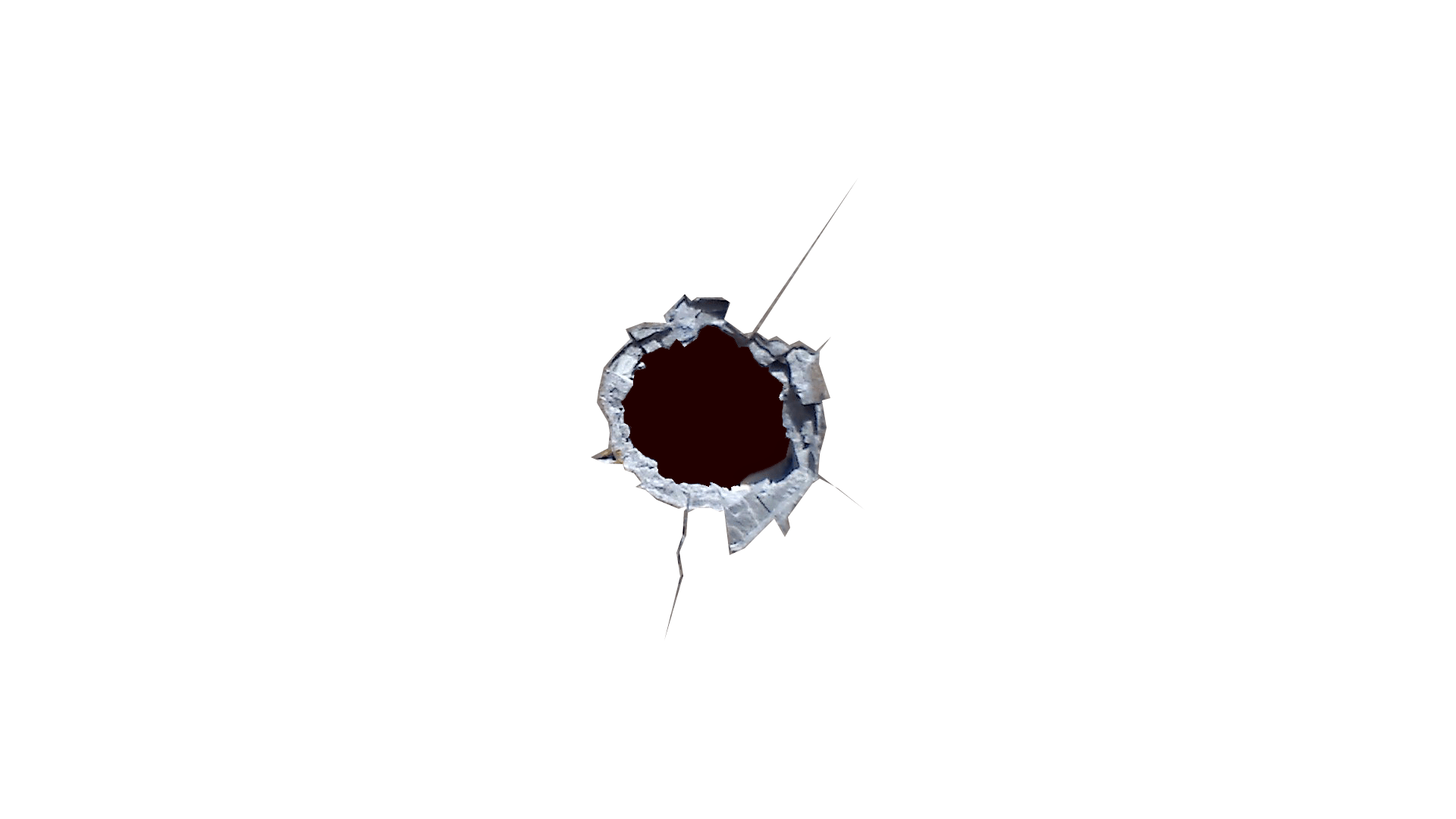 Clipart gun hole. Bullet collection in metal