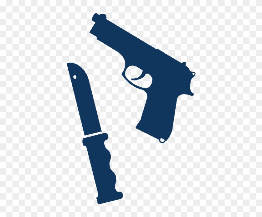 Clipart gun knife. And hd png download