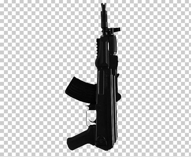 Firearm machine weapon pistol. Clipart gun knife