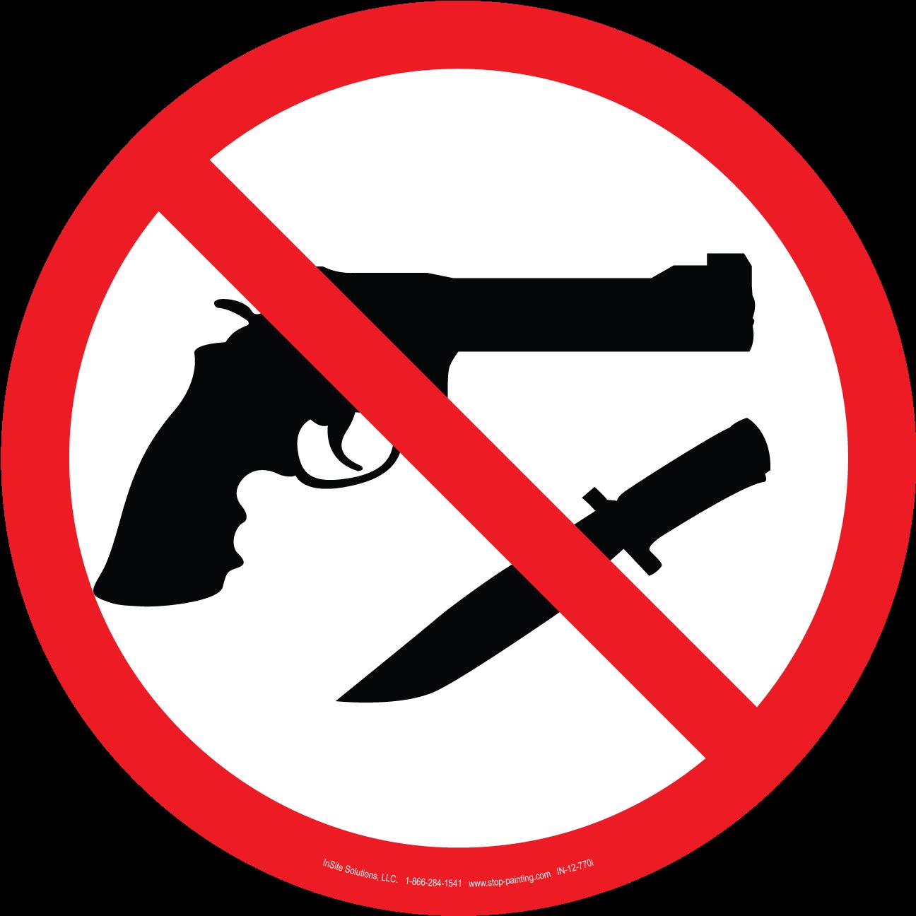 Guns and knives. Clipart gun knife