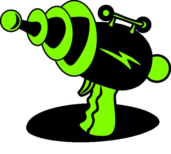 Clipart gun laser. Ray green and black