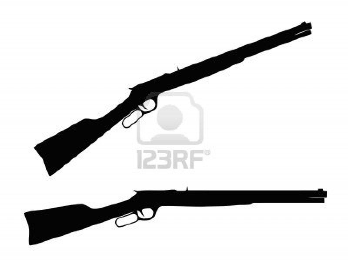 Stock vector sew be. Clipart gun lever action rifle