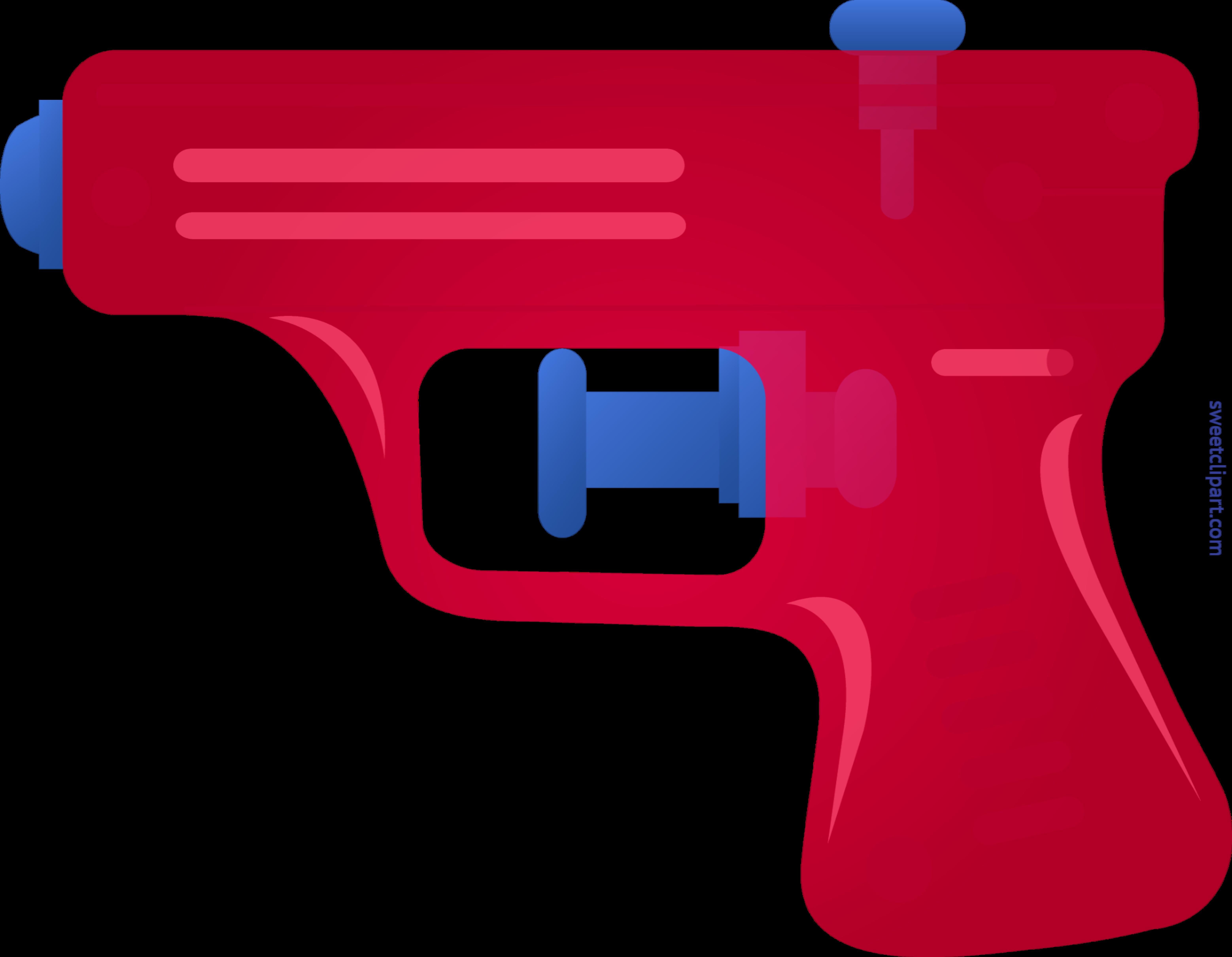 Squirt red clip sweet. Clipart gun line art